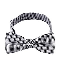 Statements Boys' Silver/Black Dotted Bowtie