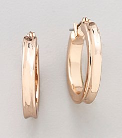 GUESS Rose Goldtone Hoop Earrings