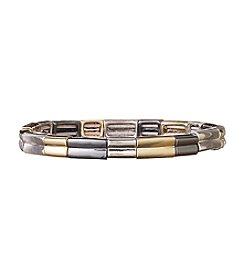 Nine West® Tri-Tone Thin Stretch Bracelet