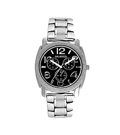 Unlisted by Kenneth Cole® Men's Silvertone Casual Watch