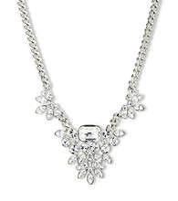 Givenchy® Silvertone Frontal Necklace