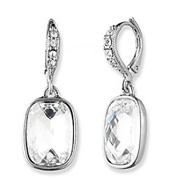 Givenchy® Silvertone Drop Earrings