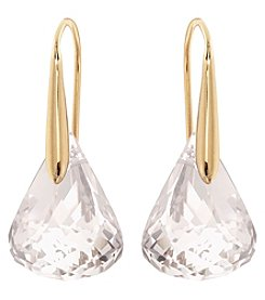 Swarovski® 24K Rose Gold Plated Lunar Crystal Blush Pierced Earrings
