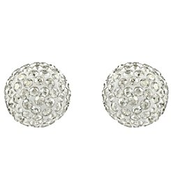 Swarovski® 24K Gold Plated Silver Shade Pointiage® Crystal Pop Stud Pierced Earrings