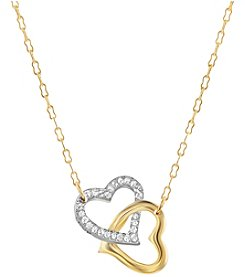 Swarovski® Goldtone/Rhodium Golden Shadow and Clear Crystal Match Necklace