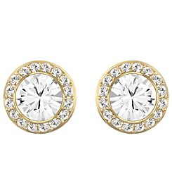 Swarovski® 24K Gold Plated Clear Crystal Angelic Pierced Earrings