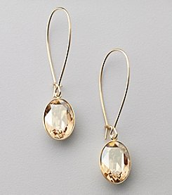 Swarovski® 24K Gold Plated Golden Shadow Crystal Puzzle Pierced Earrings