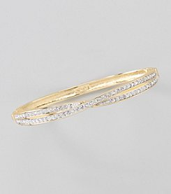 Swarovski® 24K Gold Plated Clear Crystal Random Bangle