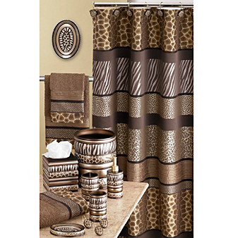 Exotic african safari and animal print towels and for African bathroom decor