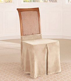 Sure Fit® Soft Touch Velvet Dining Room Chair Skirt