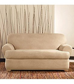 Sure Fit® Stretch Leather 2-pc. Loveseat and Sofa T-Cushion Slipcover