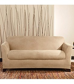 Sure Fit® Stretch Leather 2-pc. Loveseat and Sofa Slipcover
