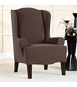 Sure Fit® Stretch Brixton Wing Chair Slipcover
