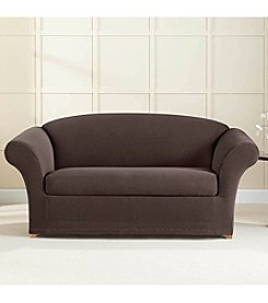 Sure Fit® Stretch Brixton 2-pc. Loveseat and Sofa Slipcover