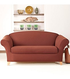 Sure Fit® Stretch Cavalry Twill 2-pc. Loveseat and Sofa Slipcover