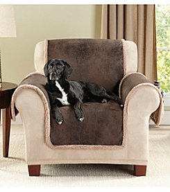 Sure Fit® Vintage Leather Reversible Furniture and Pet Chair Throw