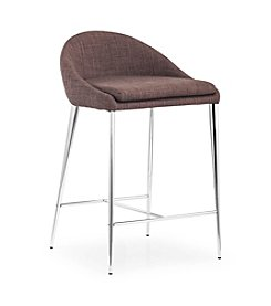 Zuo Modern Set of 2 Reykjavik Fabric Counter Chairs