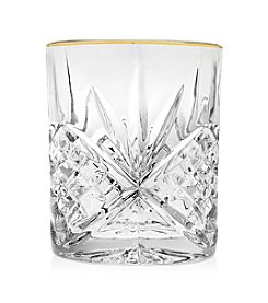 Godinger® Dublin Set of 4 Gold Banded Double Old Fashions Glasses