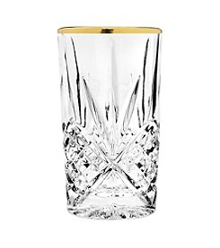 Godinger® Dublin Set of 4 Gold Banded Highball Glasses
