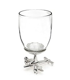 Godinger® Airplane Base Wine Glass