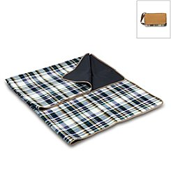 Picnic Time® English Plaid and Camel Blanket Tote