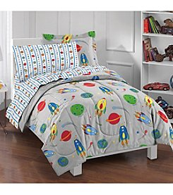 Dream Factory® Space Rocket Twin Comforter Set
