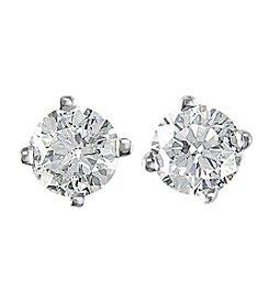 Effy® 0.25 ct. t.w. Round Diamond Stud Earrings in 14K White Gold