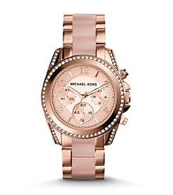 Michael Kors® Rose Goldtone Blair Watch with Blush Acetate