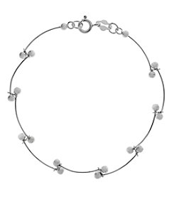 Sterling Silver Polished Scallop Bracelet