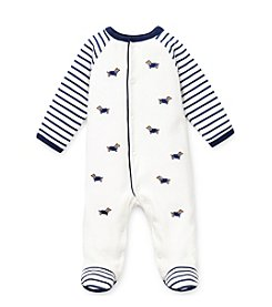 Little Me® Baby Boys' White Dachshund Footie