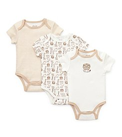 Little Me® Baby Boys' Ivory Three-Pack Safari Bodysuits