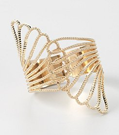 GUESS Polished Goldtone Cuff Bracelet