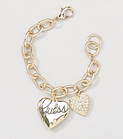 GUESS Goldtone Heart Bracelet