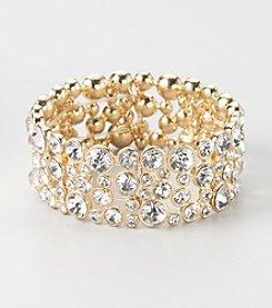 GUESS Goldtone Stretch Bracelet