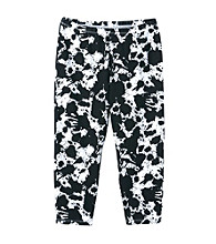 Miss Attitude Girls' 7-16 Black Paint Splash Printed Capri Leggings