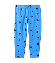 Miss Attitude Girls' 7-16 Blue Stars Printed Capri Leggings