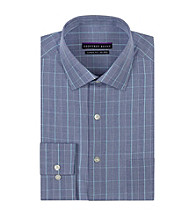 Geoffrey Beene® Men's Blue/Green Long Sleeve Plaid Dress Shirt