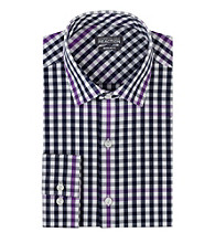 Kenneth Cole REACTION® Men's Blue Long Sleeve Multi-Check Dress Shirt