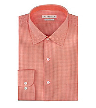 Van Heusen® Men's Papaya Long Sleeve Check Pattern Dress Shirt