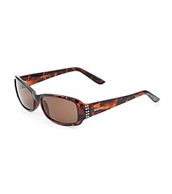 Nine West® Tortoise Plastic Rectangle Sunglasses