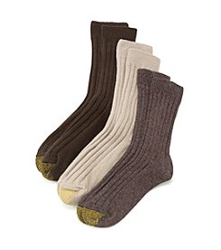 GOLD TOE® 3-Pack AquaFX® Brown Weekend Socks