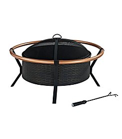 Crosley Furniture Yuma Copper Ring Black Fire Pit
