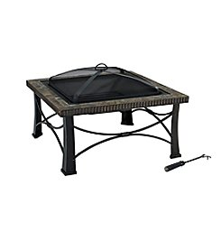 Crosley Furniture Firestone Square Slate Black Fire Pit