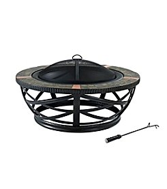 Crosley Furniture Glendale Round Slate Black Fire Pit
