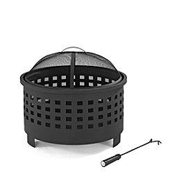 Crosley Furniture Hudson Basketweave Fire Pit