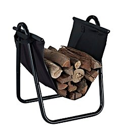 Crosley Furniture Logan Firewood Storage Carrier in Black