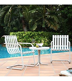 Crosley Furniture Gracie 3-pc. Metal Outdoor Alabaster White Conversation Seating Set