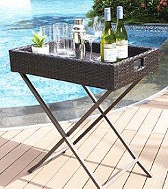 Crosley Furniture Palm Harbor Outdoor Wicker Butler Tray