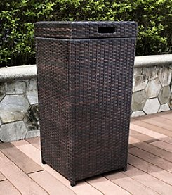 Crosley Furniture Palm Harbor Outdoor Wicker Trash Bin