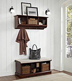 Crosley Furniture Brennan 2-pc. Entryway Bench & Shelf Set